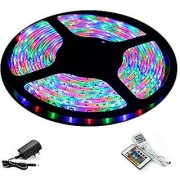 Home and office Decor 5 Meter Waterproof RGB Remote Control LED Strip Light - Color Changing