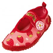 Playshoes Girls Scarpe Protezione Anti-UV FRAGOLA rosso - rosa / pink - Gr.18/19