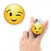 Suport Telefon iPhone Samsung Nokia HTC Stand Finger Grip Fata Zambitoare Galben Universal
