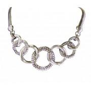 Zilver Metalen Ketting Cirkels