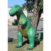 XXL opblaas T-Rex groen 300 cm