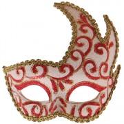 Masker rood met goud