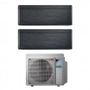 Daikin Condizionatore Daikin Dual Split Stylish Blackwood Con Inverter Da 9000+9000 Btu Wifi A+++ R32 2mxm50m