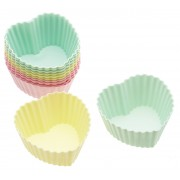 Sweetly Does It Cupcakeform Hjärta 7 cm 12-pack