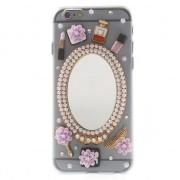 GadgetBay Coque ornementale iPhone 6 6s Chic avec miroir Coque rigide de maquillage
