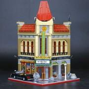 Generic LEPIN 15005 City Grand 15006 Palace Cinema 15007 European Market 15008 Green Grocer Building Blocks Toy 10211 10190 10232 10185 2354Pcs