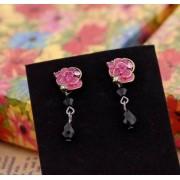Vintage köves rózsa fülbevaló