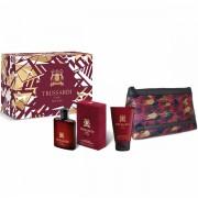 Trussardi Uomo The Red Set (EDT 100ml + SG 100ml + Bag) за Мъже