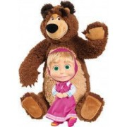 Set Simba Masha and The Bear papusa Masha 23 cm si ursulet de plus 43 cm