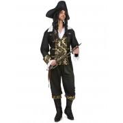 Vegaoo Kapten Guldtand - Piratdräkt för vuxna M / L