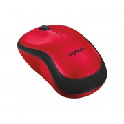 Logitech - M220 Silent RF Wireless Optical Ambidextrous Mouse - Black/Red