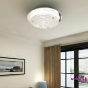 vidaXL Stropna staklena lampa okrugla s uzorkom 1 x E27