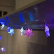 Kaemingk Taklampa 'Julljus ljusridå Star 30 färgad LED 4 meter' för Barn transparent/polyester LED inkluderat