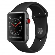 Apple Watch Series 3 GPS + 38mm Alumínio Space Grey Com Correia Desportiva Preta
