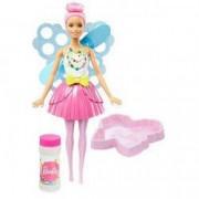 Jucarie Papusa Barbie Dreamtopia Par Roz cu baloane de sapun DVM94 Mattel