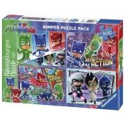 Puzzle Eroi In Pijamale, 4X42 Piese Ravensburger