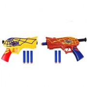 New Pinch Super Hero Soft Bullets Gun with 3 Foam Bullets - Multi Color (Pack of 2)
