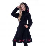 Ženski kaput Poizen Industries - EMILLA - BLACK - POI944