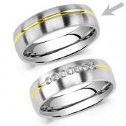 Silvego Snubní ocelový prsten pro muže PARIS - RRC2048-M