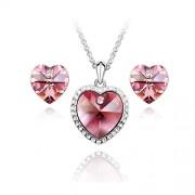 Set bijuterii Simple Heart Rose