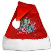 AORYGGS Sombrero de Navidad con diseño de flechas de cactus, unisex, de terciopelo dorado, para Navidad, Navidad, Navidad, Año Nuevo, fiesta, suministros