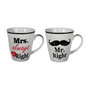 Out of the Blue set van 2 bekers Mr Right & Mrs Always Right