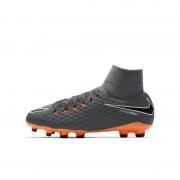 Nike Jr. Hypervenom Phantom III Academy Dynamic Fit FG Fußballschuh für normalen Rasen für jüngere/ältere Kinder - Grau