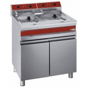 Diamond Friteuse Electrique PRO sur armoire 2 x 14 Litres 400-230V 18 kW 750x655x(h)845-985mm