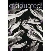diploma kaart van woodmansterne - graduated - applaus, klappende handen