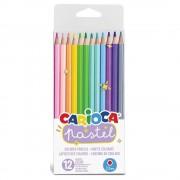 Creioane colorate CARIOCA Pastel, hexagonale, 12 culori/set