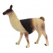 Geen Plastic lama's bruin 9 cm