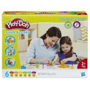 Set Play Doh Shape and Learn Textures and Tools