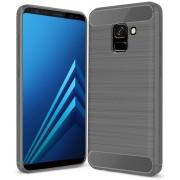 Samsung Galaxy A8 Plus 2018 hoesje - Rugged TPU Case - grijs