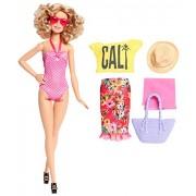 Barbie Glam Vacation Doll, Pink Polka Dot