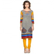 Nakoda Creation Women's Cotton Unstitched Multicolor Printed Kurti Fabric (Fabric only for Top)