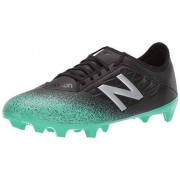 New Balance Men's Furon v5 Dispatch FG Soccer Shoe, neon emerald/black/silver, 13 D US