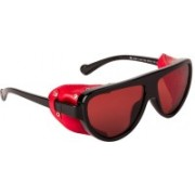 Farenheit Retro Square Sunglasses(Red)
