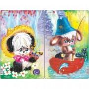 Set 2 Puzzle-uri Animale Simpatice 14 piese Larsen LRCU2 B39016896