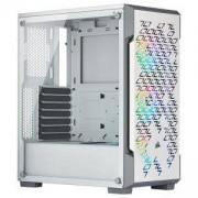 Компютърна кутия Corsair iCUE 220T RGB Airflow (Mid-Tower), Tempered Glass, бял, CC-9011174-WW