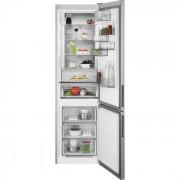Combina frigorifica AEG RCB736E5MX, No Frost, 360 L, H 201 cm, Display LCD, Racire rapida, Inghetare rapida, Clasa energetica A++, Inox antiamprenta