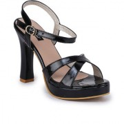 Funku Fashion Women Ankle Strap Black Block Heel