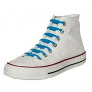 Shoeps 14x Shoeps elastische veters kobaltblauw voor kinderen/volwassen