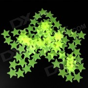 Estrellas Pentagram estilo luminosos engomadas decorativas - verde (100PCS)