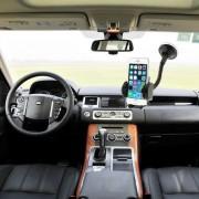 Suport auto 2 in 1 Samsung Galaxy S5 47-100 mm Negru