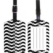 Nutcaseshop Waves Pattern Luggage Tag(Multicolor)