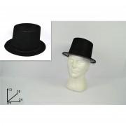 Cappello cilindro floccato nero 372476