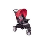 Carrinho De Bebê Travel System Kiddo Fox - Cinza/vermelho