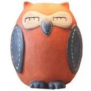 Eastyle Owl Child Piggy Bank Savings/Coin/Money Box Creative Cute Wedding Birthday Present Orange