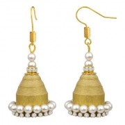 Spargz Bollywood Dhamaka Paper Quilling Gold Dangle Ad Cz Pearl Fashion Jewellery Earrings Set For Women And Girls AIER 1193