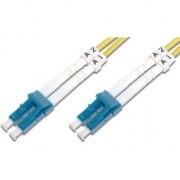 Patch Cord fibra optica, Digitus, duplex SM 9/125 OS2 LC / LC 2m, Galben